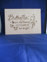 Butterflies Message Pyrography