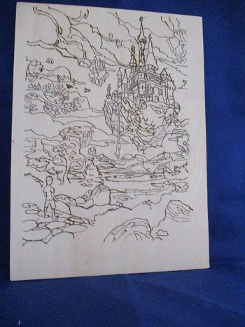 Floating Castles Pyrography