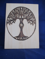 Goddess Tree Pyrography