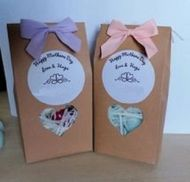 5 Wax Melt Hearts In Bag With Personalised Labels