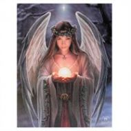 Yule Angel Canvas By Anne Stokes
